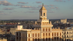 Architecture from an elevated view near the Malecon, Havana, Cuba Stock Footage