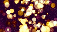 HD Loopable Background with nice golden bokeh Stock Footage