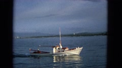 1965: the coast guard patrols the early morning shipment HAWAII Stock Footage