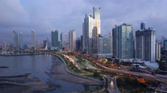 City skyline, Panama City, Panama, Central America Stock Footage