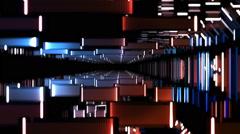 Electric Geometric Vj Loop Stock Footage