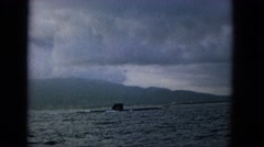 1965: submarine water moving transport water waves fast HAWAII Stock Footage