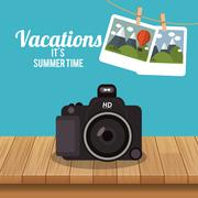 Travel vacation or holidays related icons image Stock Illustration