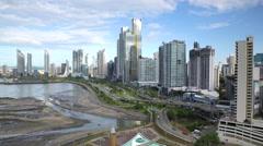 City skyline, Panama City, Panama, Central America Stock Footage
