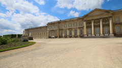 Chateau de Compiegne Palace In France Stock Footage