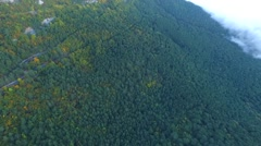 Aerial view of Ai-Petri Mountains near Yalta, Crimea Stock Footage