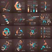 Modern business step origami style options banner Stock Illustration