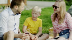 Cucumber on a picnic Stock Footage