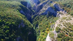 Big Canyon of Crimea aerial view Stock Footage
