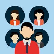 People users avatar icons image Stock Illustration