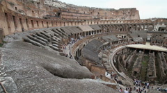 The Inside Of The Colesseum In Rome Stock Footage