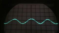 Old oscilloscope display Stock Footage