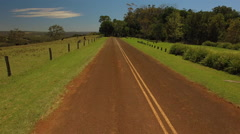 Aerial Of Australian Country Road Flying Up To Reveal Countryside Arkistovideo