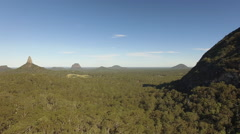 Aerial Of Glass House Mountains B Stock Footage