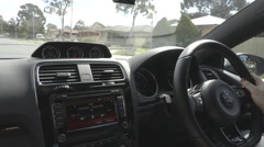 Driving A Car In Australia A Stock Footage