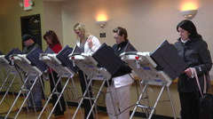 Voters in Ohio cast ballots in the presidential election. Stock Footage