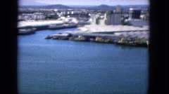 1965: a busy commercial wharf HAWAII Stock Footage