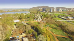 Aerial Of Commonwealth Park Canberra Stock Footage