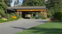 Clubhouse of a private Golf Club, main entrance. Stock Footage