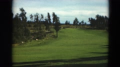 1949: view garden trees golf course MINNESOTA Stock Footage