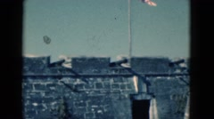 1951: a historic site featuring an old fort made of stone FLORIDA Stock Footage