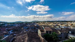 View over the roofs of the old town of Arta, Majorca, Spain, Europe Stock Footage