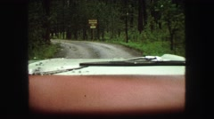 1967: driving down the road SOUTH DAKOTA Stock Footage