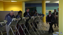 Ohio voters cast their ballots in early voting in the presidential elelction. Stock Footage