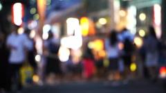 People at night walking at Takeshita street, Harajuku, Tokyo, Japan. Stock Footage