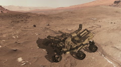 Curiosity mars rover self assembly Stock Footage