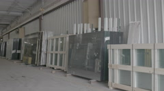 Glass factory full of stock Stock Footage