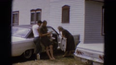 1968: a pleasant family get-together outdoor on a sunny day. DILLER, NEBRASKA Stock Footage