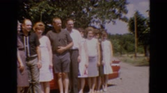 1968: a group of people posing for a snap in an open place DILLER, NEBRASKA Stock Footage