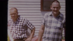 1968: family is posing for a picture DILLER, NEBRASKA Stock Footage
