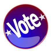Glossy button with the word Vote Stock Illustration