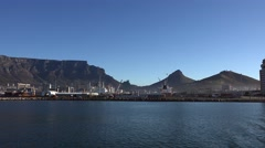 Cape Town harbour (4k UHD footage) Stock Footage