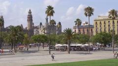 Nice view of La Barceloneta in Barcelona Stock Footage