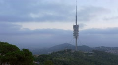 TV tower in Barcelona Stock Footage