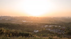 Sunset over the city of Alma Ata. Kazakhstan. Time Lapse Stock Footage