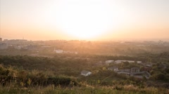 Sunset over the city of Alma Ata. Kazakhstan. TimeLapse Stock Footage