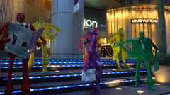 ION Orchard Mall, shopping district of Orchard Road, Singapore, South East Asia Stock Footage