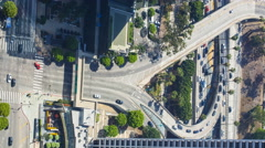 Vertical Timelapse of LA Freeway from Top Floor at US Bank Tower  Stock Footage