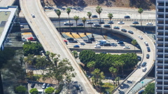 Timelapse of LA Freeway from Top Floor at US Bank Tower  Stock Footage