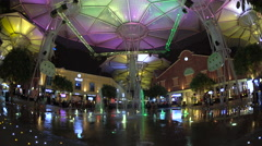 Riverside restaurants at the entertainment district of Clarke Quay, Singapore, Stock Footage