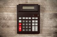Top view of old calculator. Stock Photos