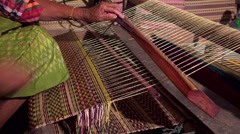 Weaving mats from dry reed. Stock Footage