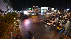 View of night traffic at BKKCC Stock Footage