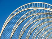 Abstract White Architecture On Blue Sky Stock Photos