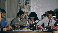 Austria 1970s: Christmas party at home Stock Footage