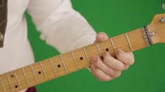 The musician plays the guitar Stock Footage